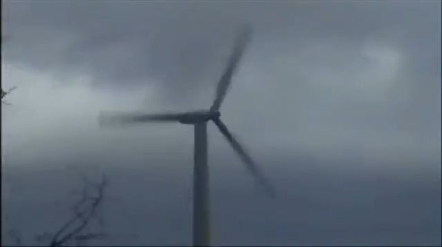 Wind turbine gets destroyed in storm