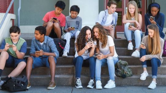 young generation people using mobile